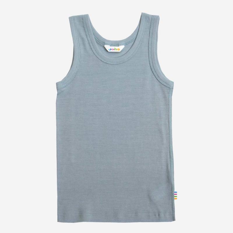 Unterhemd Wolle/Seide denimblau