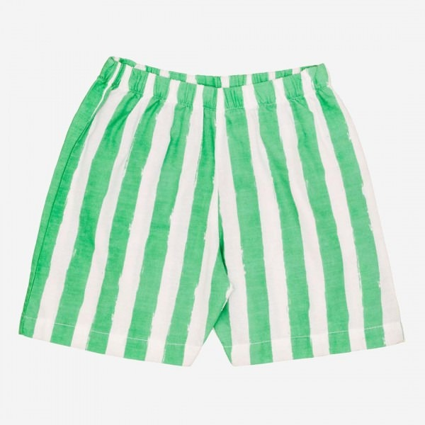 Kurze Hose green stripes