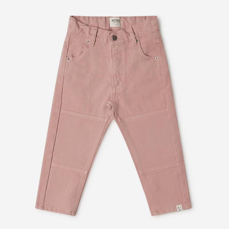 Kinder Hose Utility Pants von Matona aus Bio-Baumwolle in terracotta