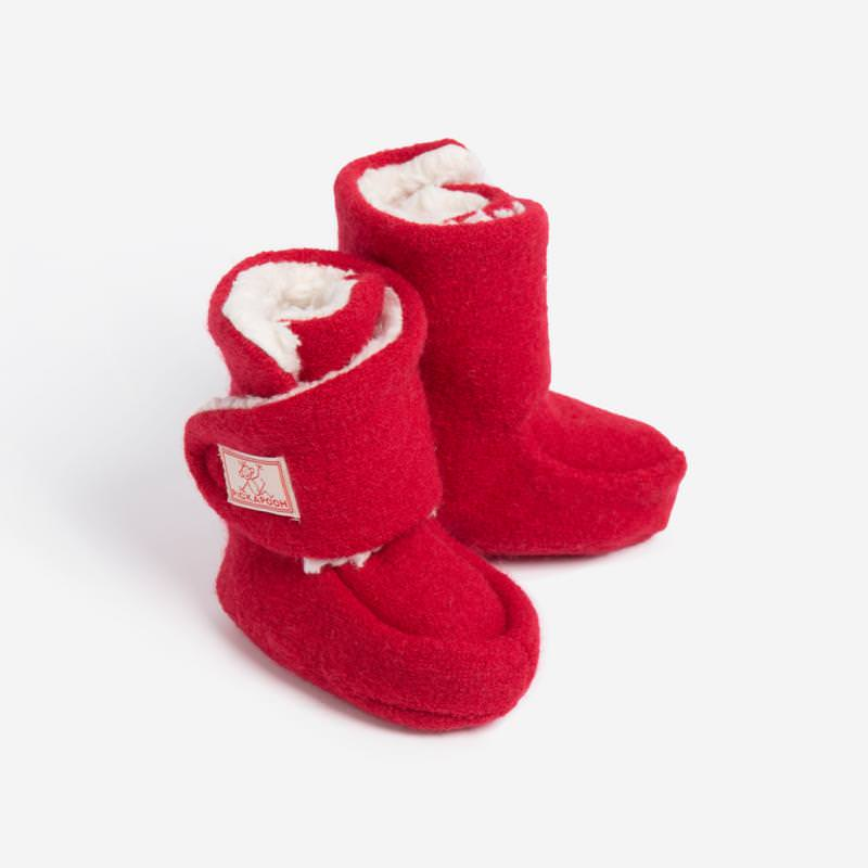 Baby-Stiefel Trotter Wollwalk rot