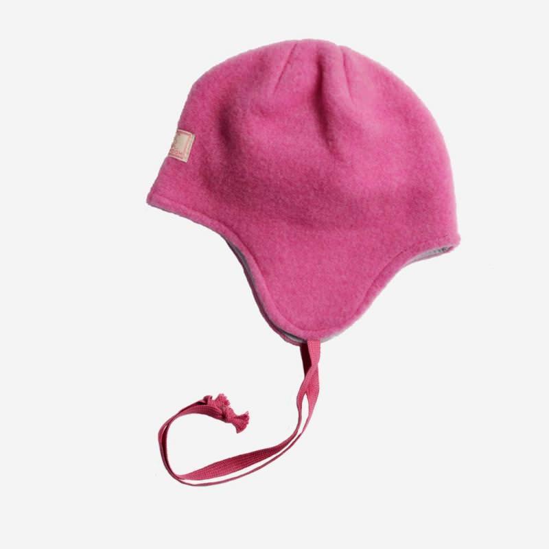 Mütze Jack Wollfleece fuchsia-grau