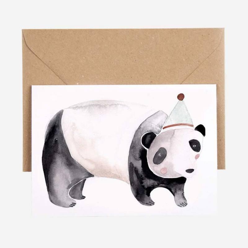 Klappkarte Party Panda