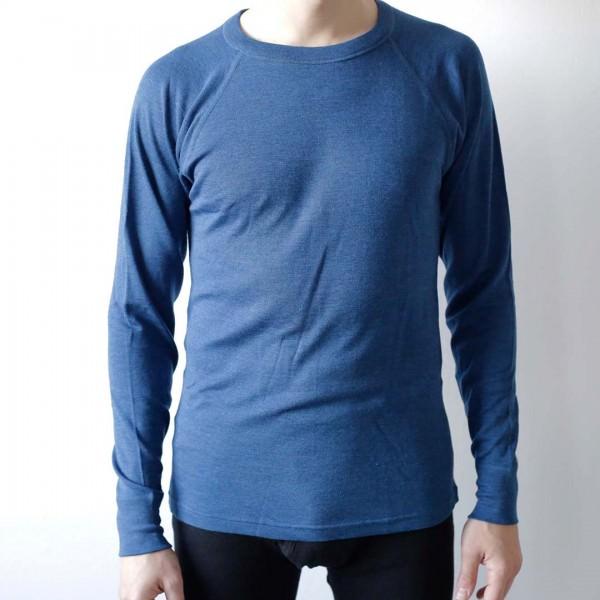 Herren Langarm Shirt Raglan Wolle/Seide
