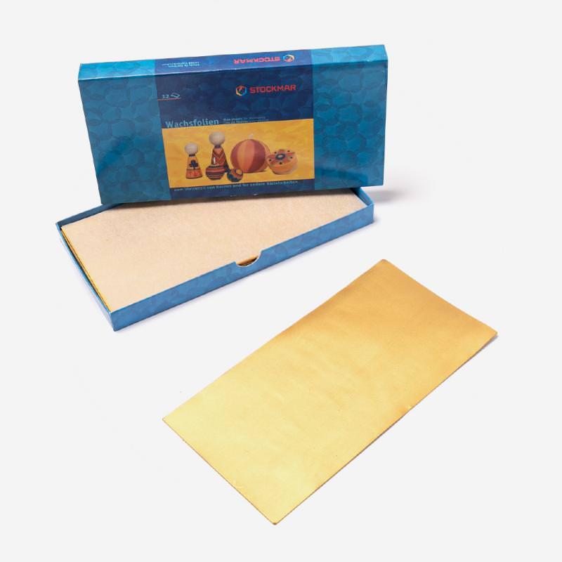 Wachsfolie 200 x 100 mm von Stockmar in gold, einzeln