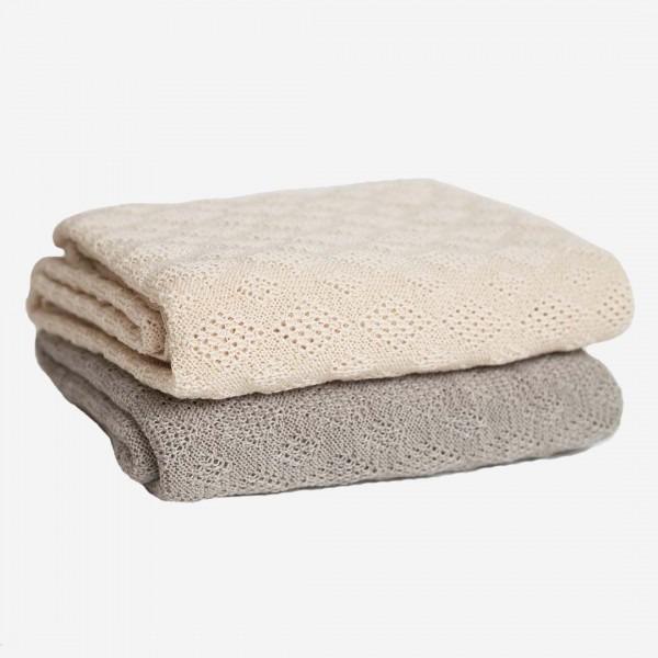 Babydecke Strickmuster Wolle