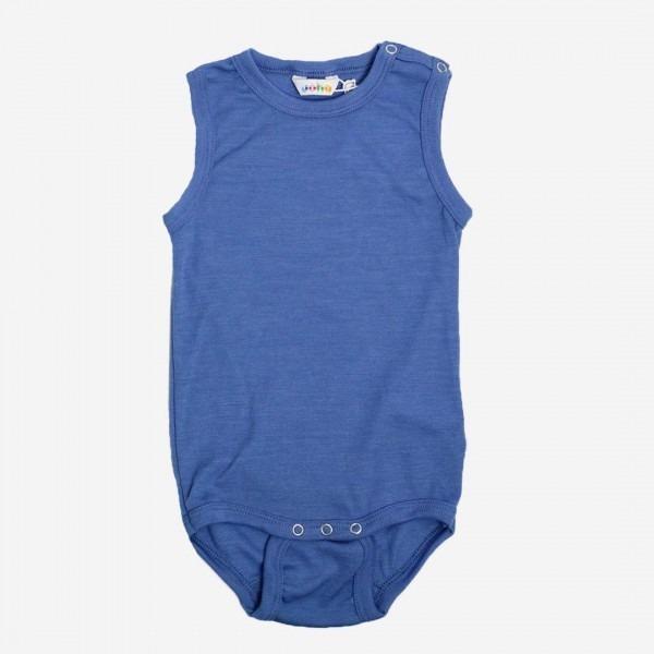 Body ohne Arm Wolle/Seide blau