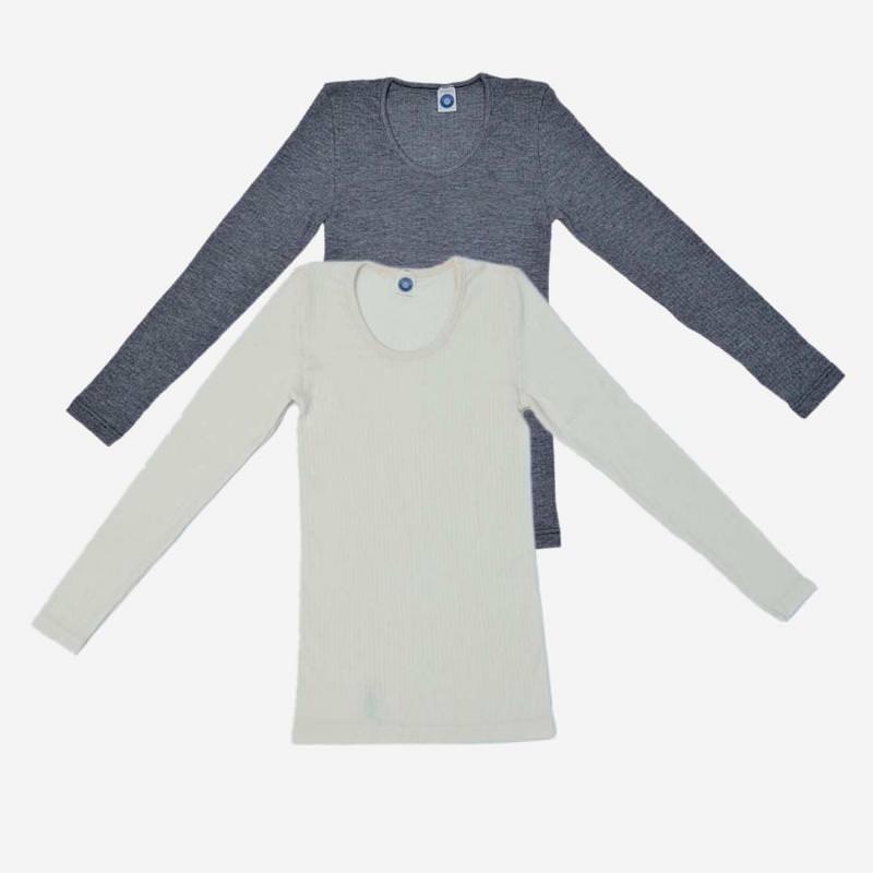 Damen Unterhemd Baumwolle/Wolle/Seide