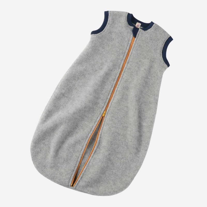 Baby-Schlafsack Wolle kurzarm