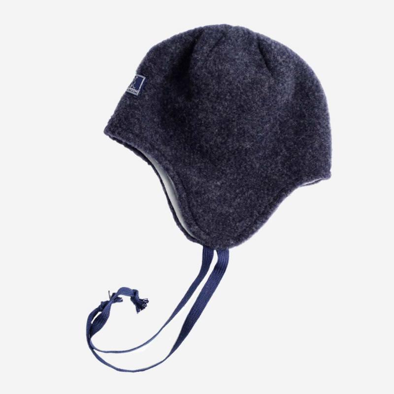 Mütze Jack Wollfleece marine-grau