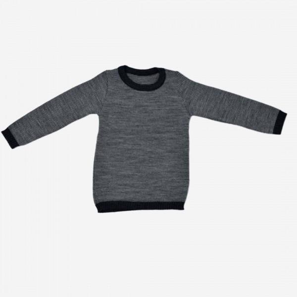 Basic Pullover Melange anthrazit-grau