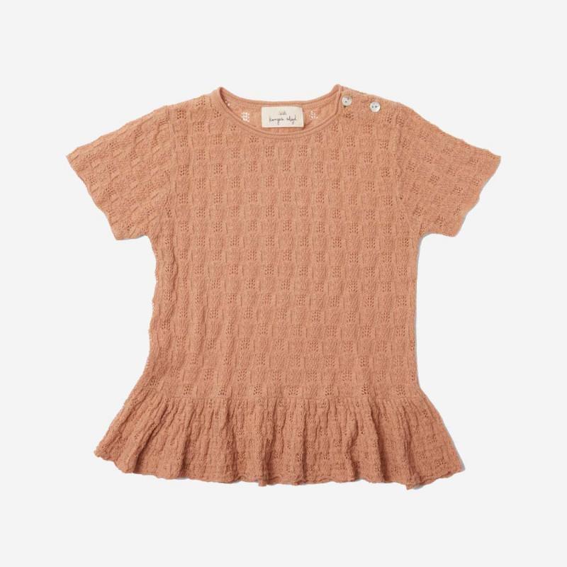 Kinder Shirt Cypres Frill von Konges Sløjd aus Bio-Baumwolle in blush