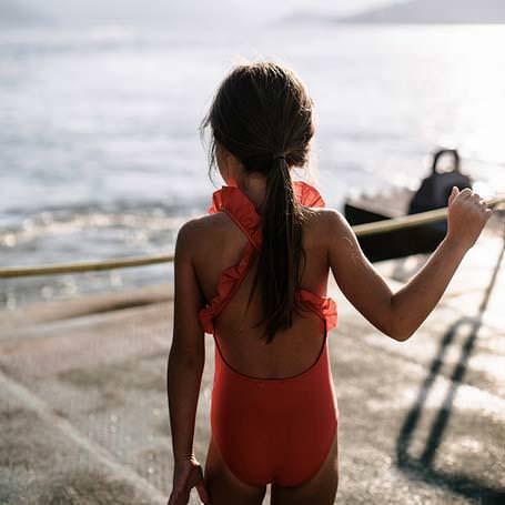 Badeanzug Alba mit UV-Schutz fragola