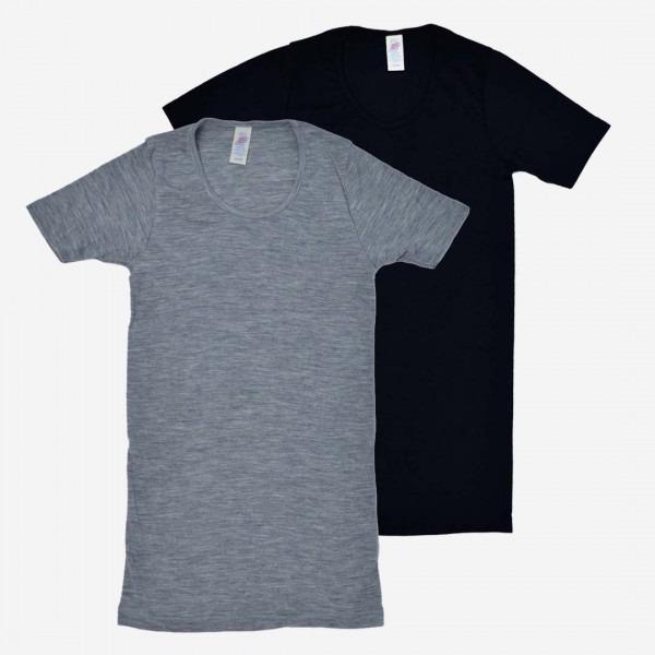 Damen Shirt Wolle/Seide kurzarm