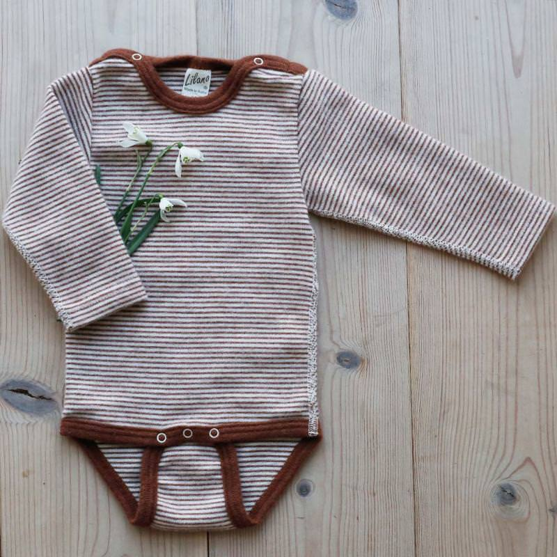 Body Wolle/Seide Ringel rust