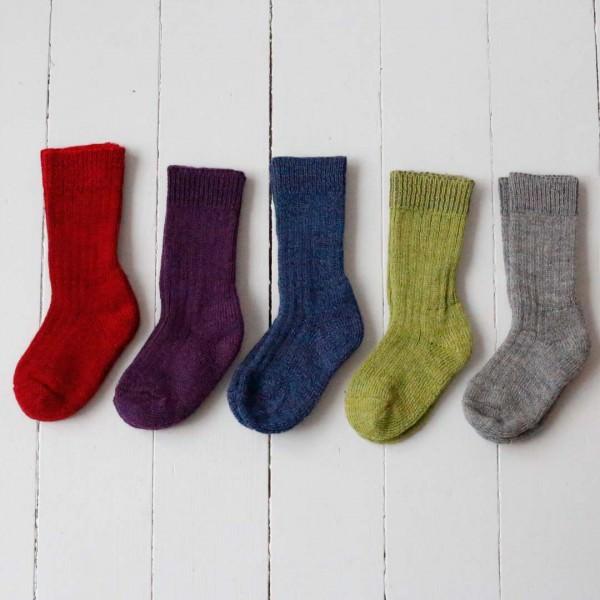 Socke Wolle Plüschsohle