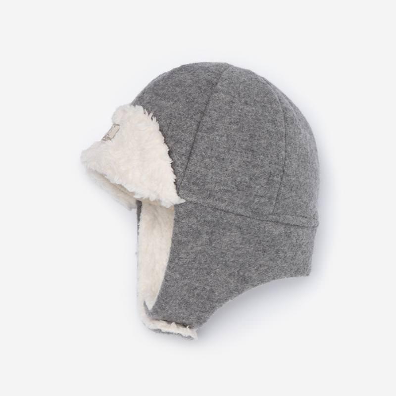 Mütze Fynn Wollwalk grau