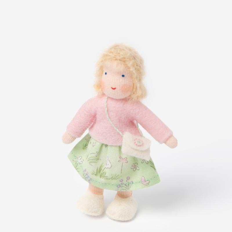Puppenstuben Mädchen blondes Haar