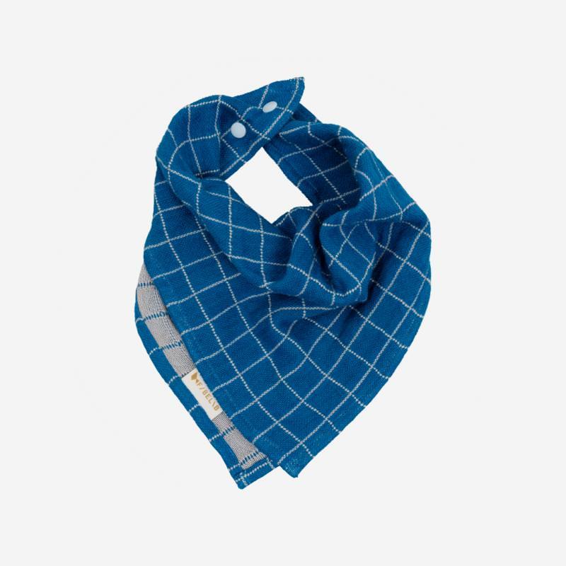 Dreieckstuch Grid bright blue