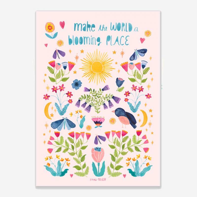 "Print ""Blooming World"""