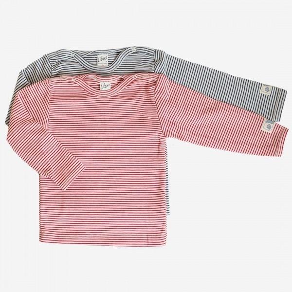 Babyshirt Ringel Baumwolle/Seide
