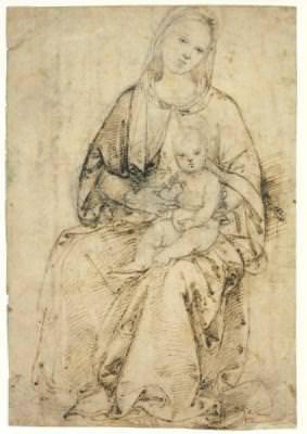 Postkarte Madonna mit Kind (Raffael)