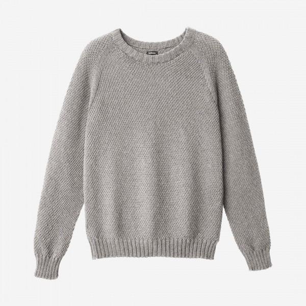 low priced 861bc 56969 Damen Pullover Wolle grau melange
