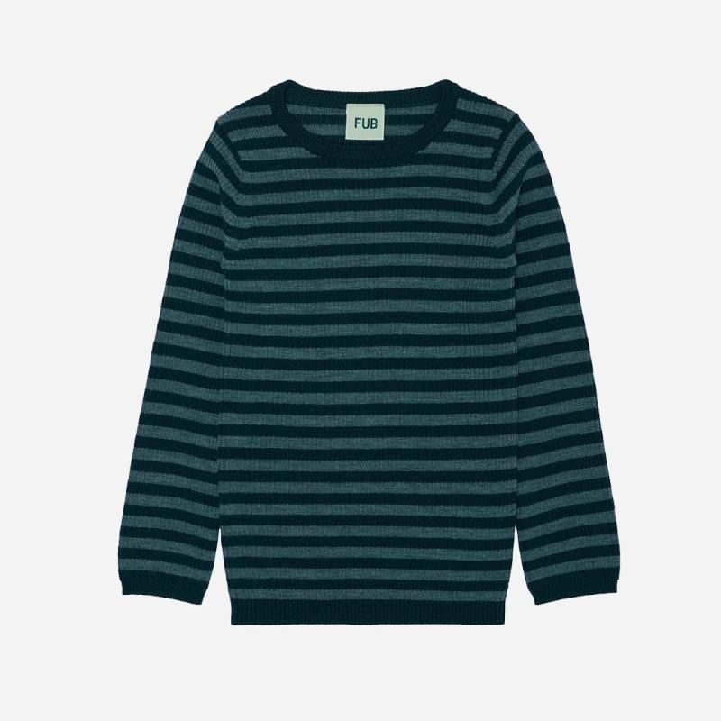 Rib Pullover teal/emerald