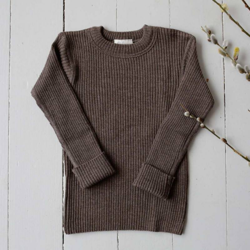 Pullover Wolle chocolate