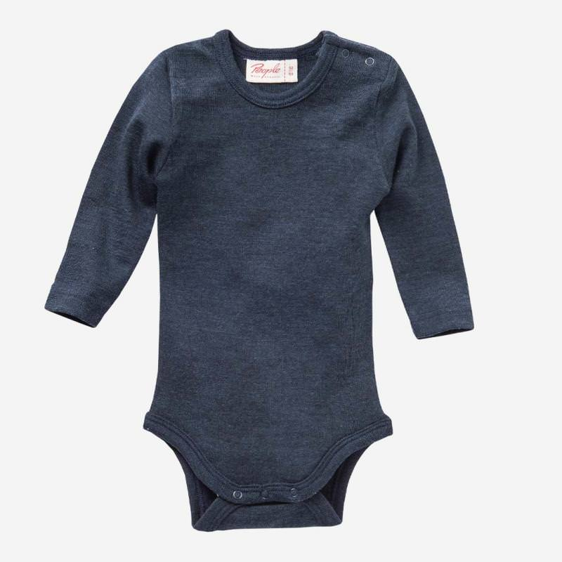 Body Wolle/Seide dunkelblau