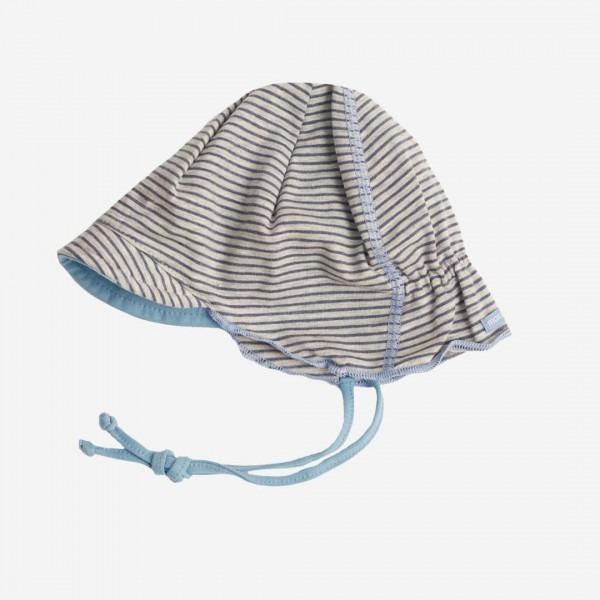 Baby Schirmmütze grau-blau meliert