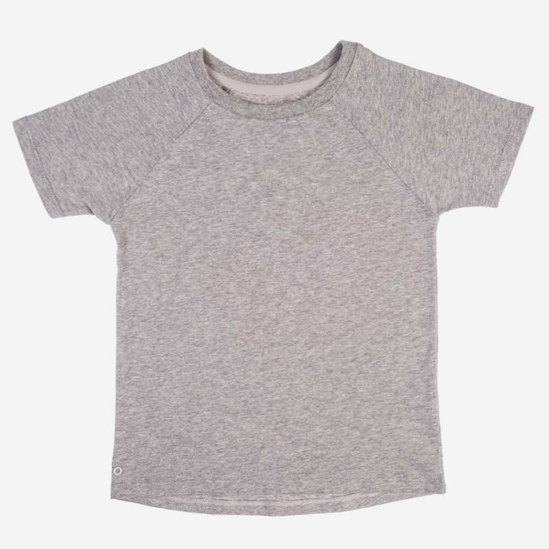 T-Shirt Baumwolle grau melange