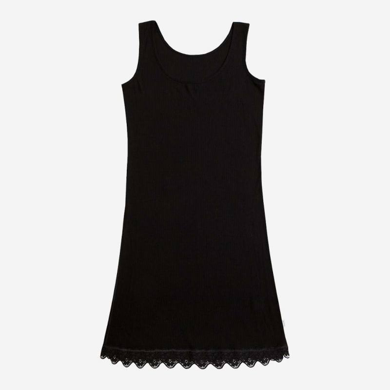 Damen Kleid mit Spitze von Joha aus Wolle/Seide