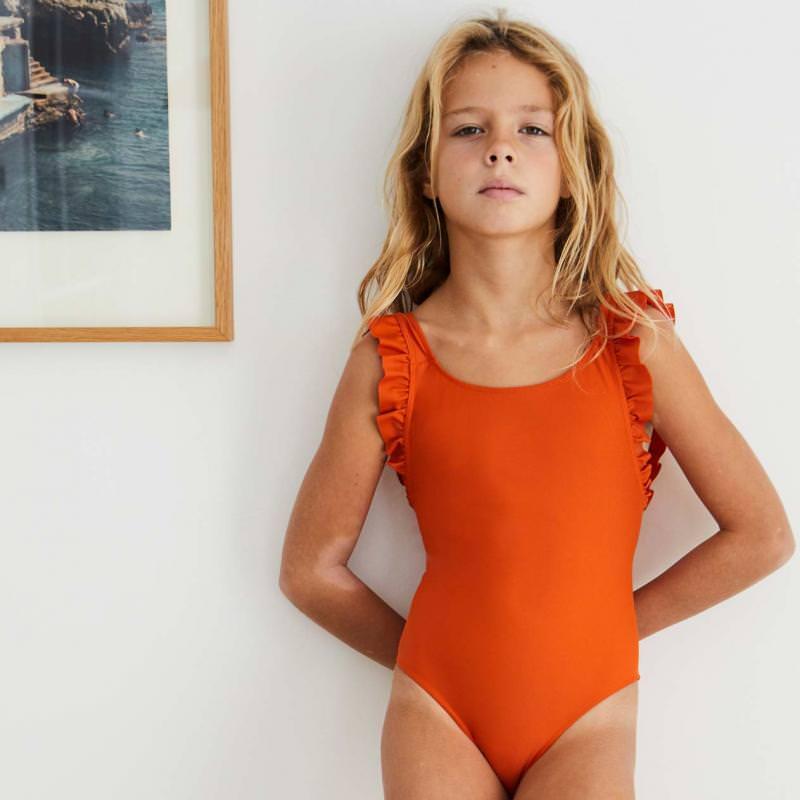 Badeanzug Thelma mit UV-Schutz safran