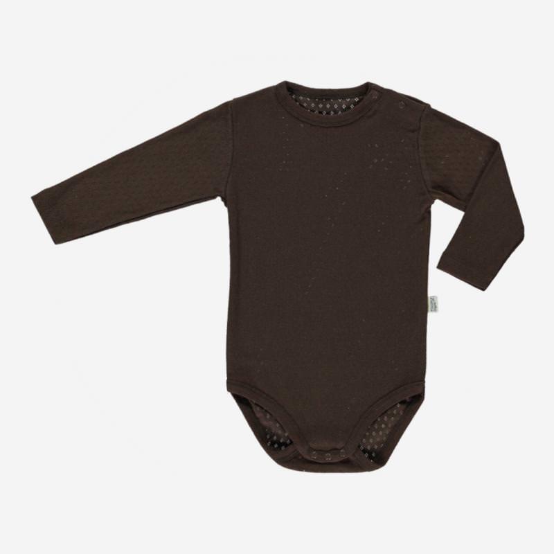 Baby Body langarm von Poudre Organic aus Bio-Baumwolle in carafe