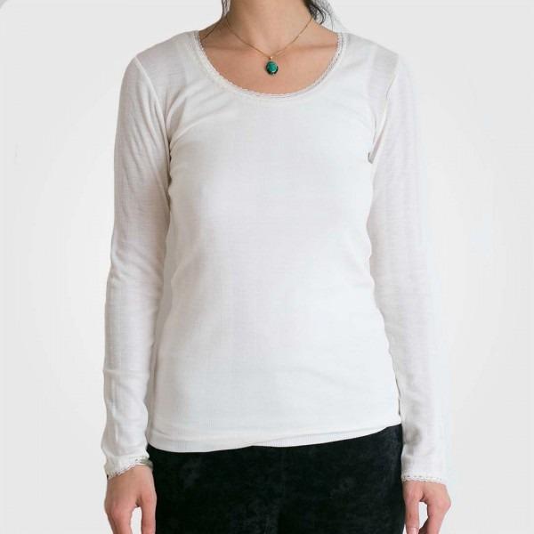 Damen Unterhemd Wolle/Seide