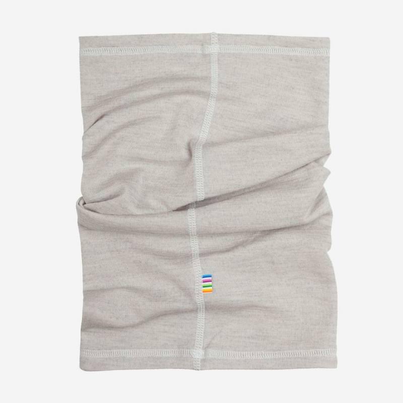 Schlauchschal Wolle/Seide grau meliert