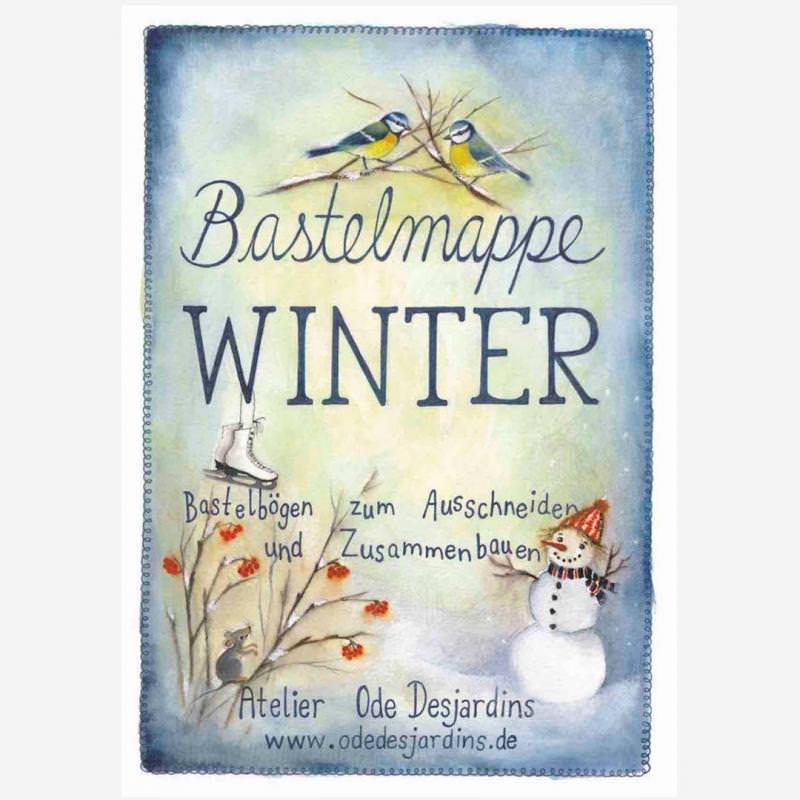 Bastelmappe Winter