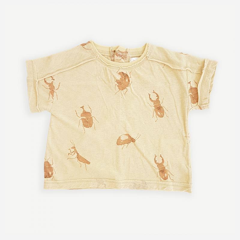 T-Shirt mit Käfern straw gelb