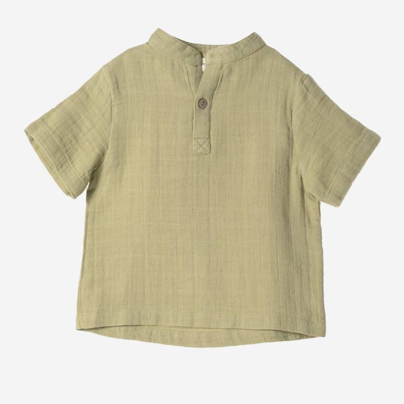 Kurzarm Shirt Farbenspiel salbei