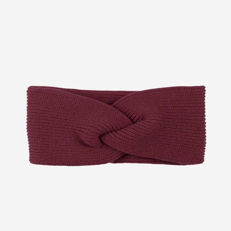 Stirnband Merino-Kaschmir burgundy