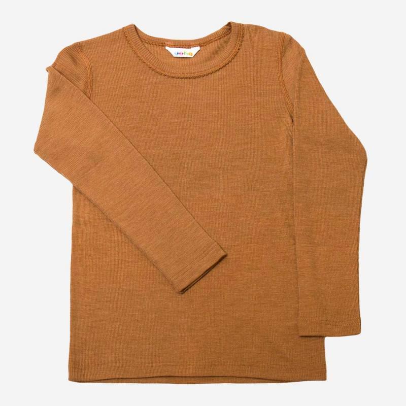 Kinder Shirt von Joha aus Wolle/Seide in kupfer