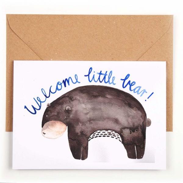 Klappkarte Welcome little bear