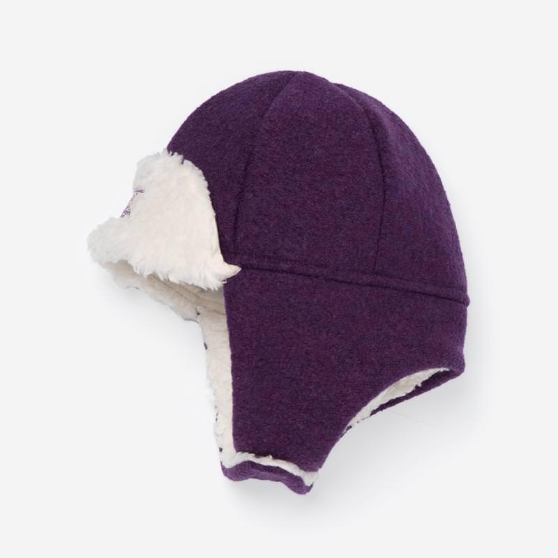 Mütze Fynn Wollwalk lila