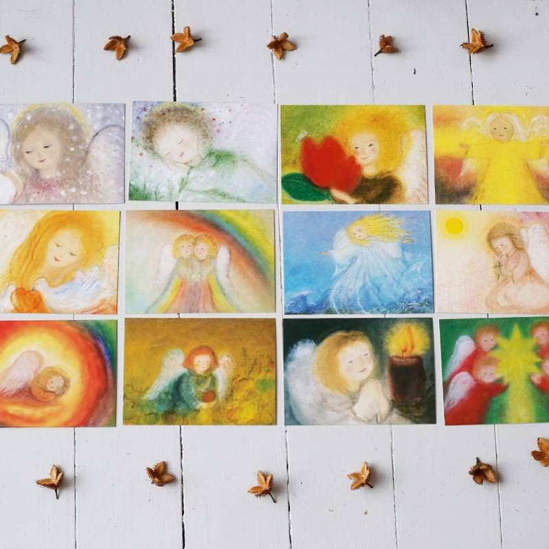 Postkartenset Monatskarten Engelchen