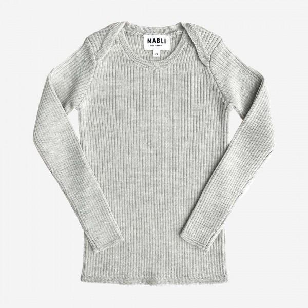 Pullover Skinny Rip Merinowolle marble