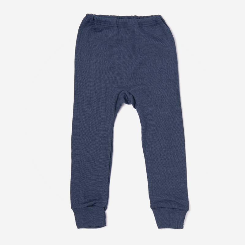 Lange Unterhose Wolle/Seide marineblau