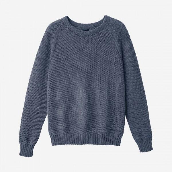 Damen Pullover Wolle blau melange