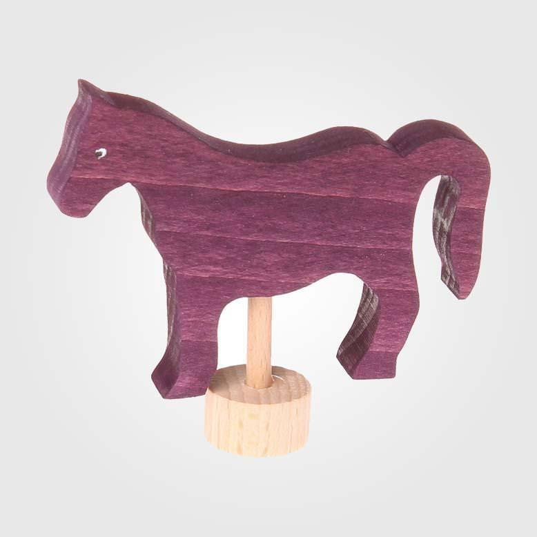 Figurenstecker Pferd violett