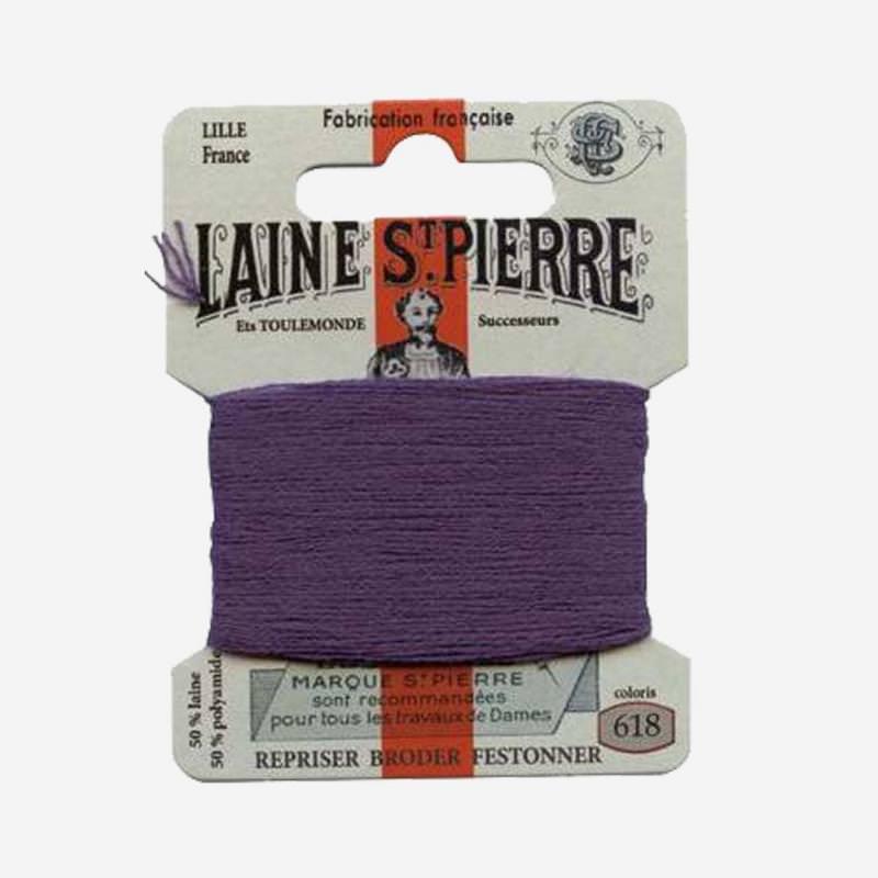 Stopfgarn von Laine Saint-Pierre in schwarze johannisbeere Farbnummer 618