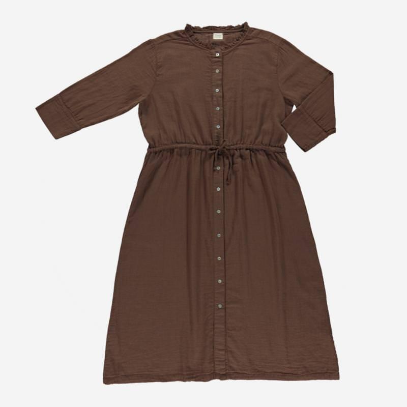 Damen Kleid GIROFLE von Poudre Organic aus Bio-Baumwolle in carafe